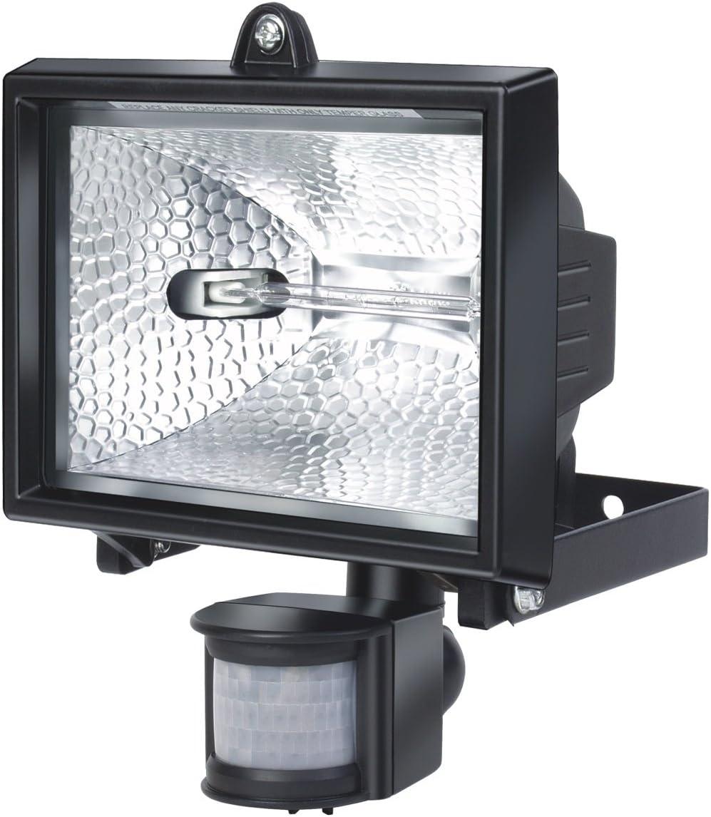 Brennenstuhl Halogenstrahler mit Infrarot-Bewegungsmelder Farbe wei/ß Flutlicht ideal als Baustrahler Au/ßenstrahler IP44 gepr/üft, 400 Watt