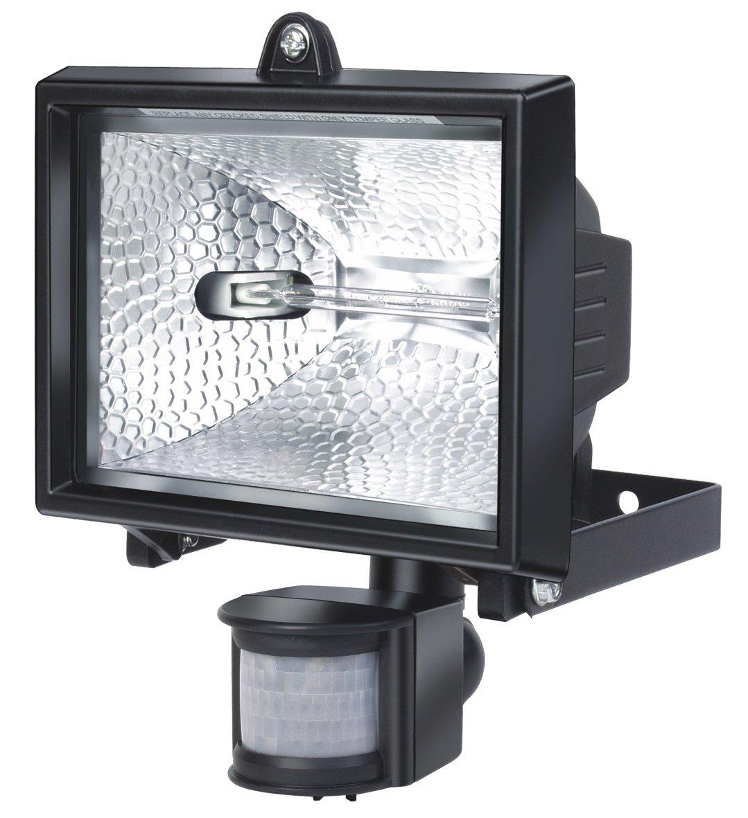 Farbe Flutlicht ideal als Baustrahler Brennenstuhl Halogenstrahler mit Infrarot-Bewegungsmelder schwarz Au/ßenstrahler IP44 gepr/üft, 400 Watt