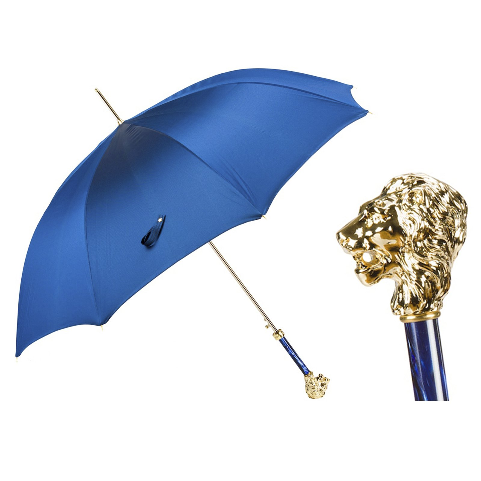 Pasotti Ombrelli Golden Lion Walking Stick Umbrella W37PB