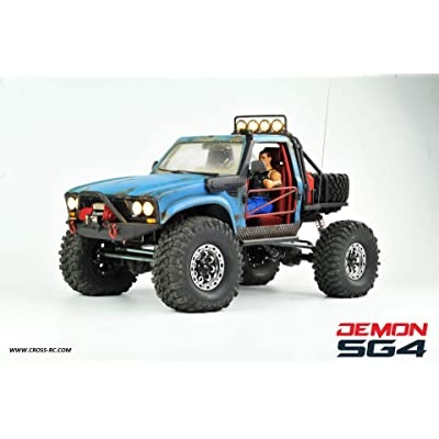 SG4B Demon 4x4 w Hard Body and Full Interior: 1/10 Scale 4WD Scaler Rock Crawler Pickup Truck Kit (Requires Assembly and Paint): Toys & Games