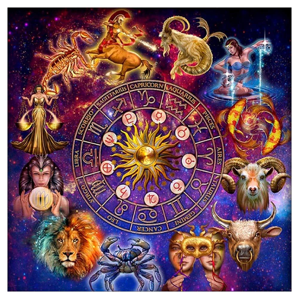 5D DIY Full Drill Constellation Diamond Painting Aquarius Cross Stitch Zodiac Signs Embroidery Mosaic Kit Home Decor Wall Art Gifts Aquarius