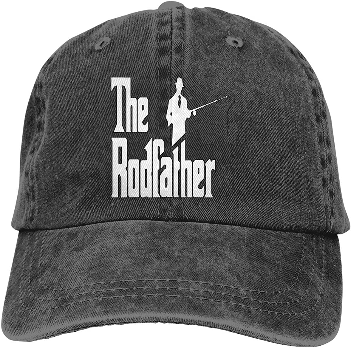 RFTGB Gorras Unisex Accesorios Sombreros Gorras de béisbol Sombreros de Vaquero The Rodfather Funny Fishing Denim Baseball Cap, Unisex Vintage Dad Hat, Golf Hats, Adjustable Plain Cap
