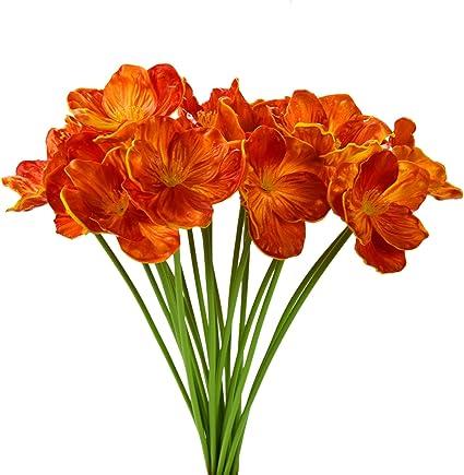Artificial Poppy Flower Realistic Plastic Flower For Bride Bouquet Wedding Decor