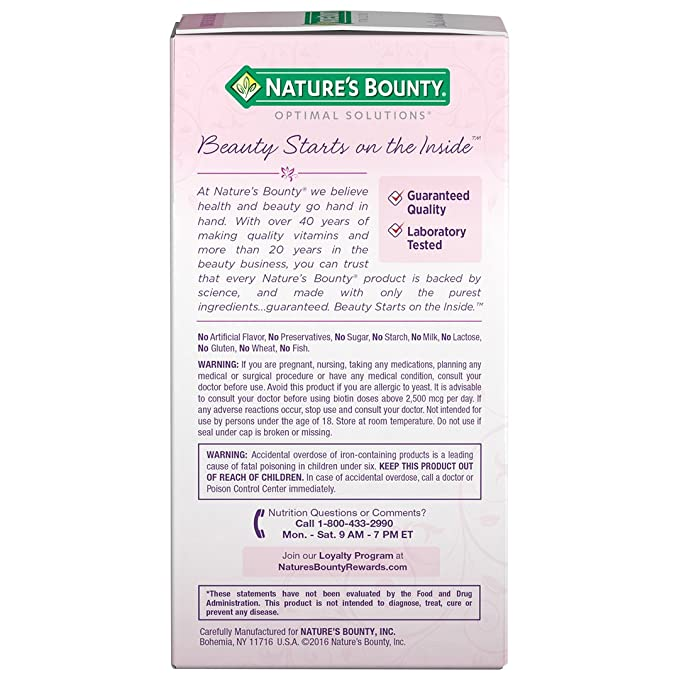 Natures Bounty Extra Strength Hair Skin Nails, 150 Count by Natures Bounty: Amazon.es: Salud y cuidado personal