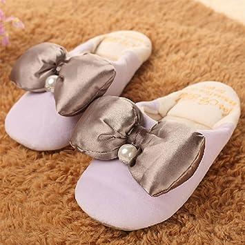 Aumento Cute Candy colores lazo algodón Zapatillas, invierno casa Pantuflas Algodón Pantuflas Invierno Casa Zapatillas de algodón zapatillas de casa ...