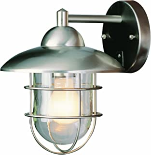Trans Globe Lighting 4371 ST Coastal Coach 12-Inch Outdoor Wall Lantern Stainless Steel  sc 1 st  Amazon.com & Stratus Collection 12 3/4