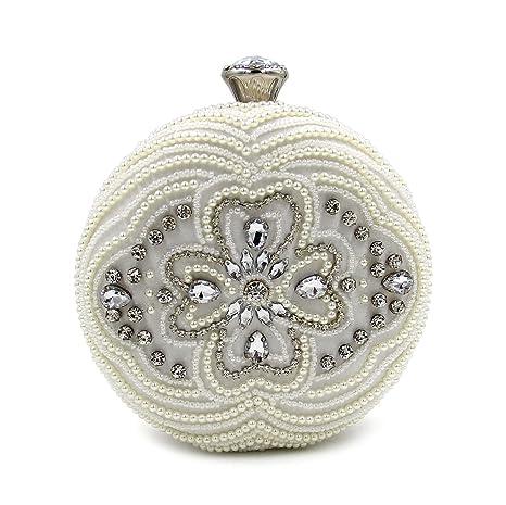 WYB diamante redondo perlado/bolsa de tarde/embrague/bolsa perlado de alta definición