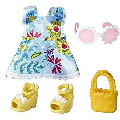Baby Alive Littles Little Styles, Fun in The Sun Outfit for Littles Dolls, Brown: Toys & Games