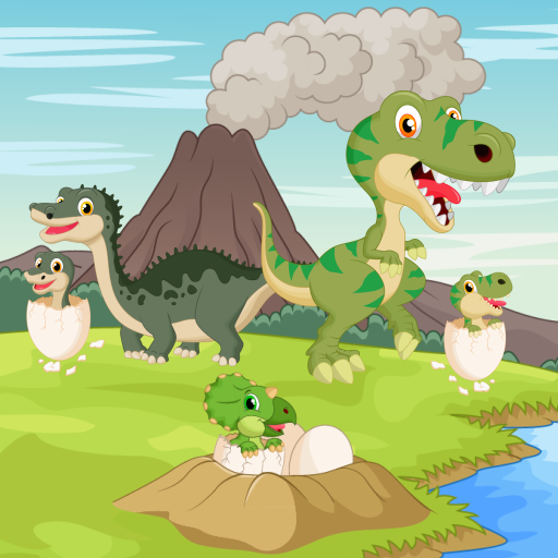 Dinosaurs game for Toddlers and Kids : discover the jurassic world of