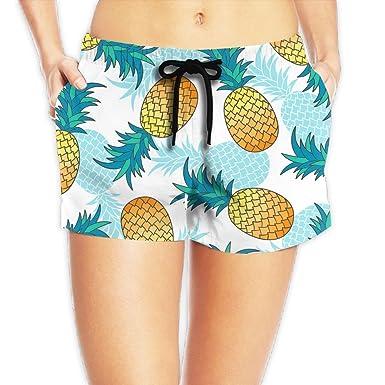262fe1fc5bd Cute Pineapple Women's Quick Dry Fashion Shorts Swim Trunks Beach Board  Shorts at Amazon Women's Clothing store:
