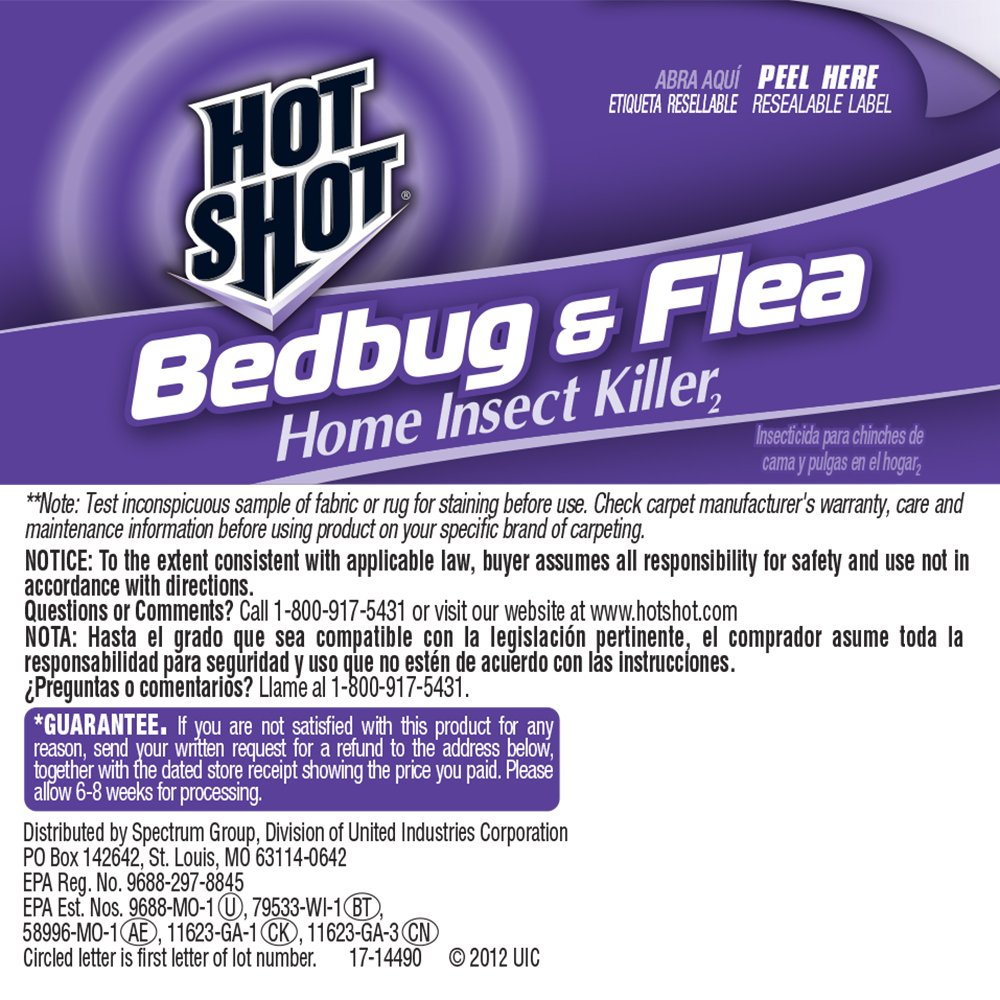 Amazoncom Hot Shot Bedbug Flea Home Insect Killer Readyto