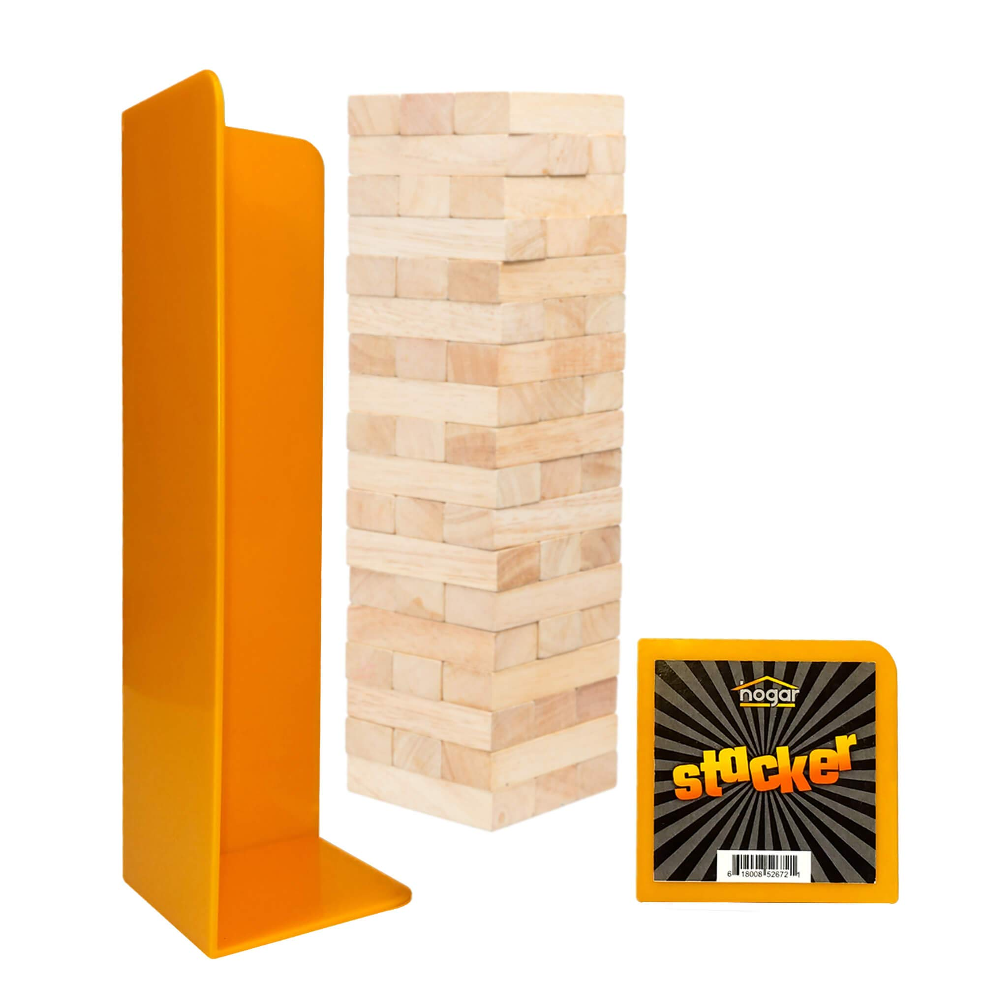 Wood Block Tower Stacking Tray Game Accessory ages 6 to adult - compatible with Tipsy Tower, Lewo, WE Games and more