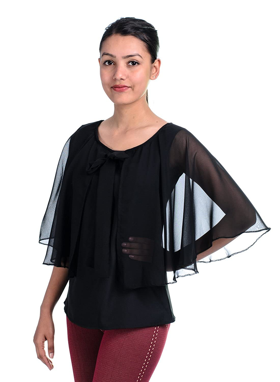 8576811a15e2d Timbre Women S Black Tops  Amazon.in  Clothing   Accessories