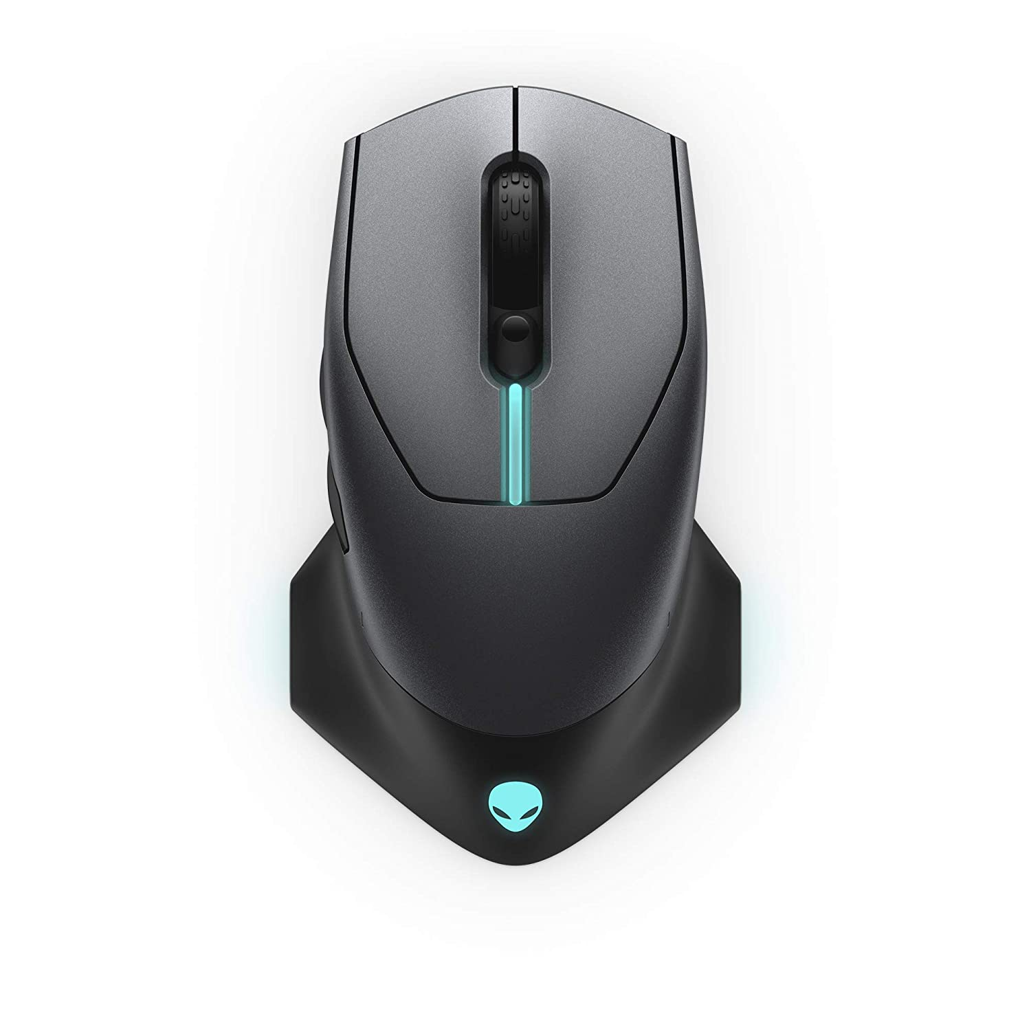 Alienware Wired Wireless Gaming Mouse AW610M 16000 DPI Optical Sensor – 350 Hour Rechargeable Battery Life – 7 Buttons – 3-Zone Alienfx RGB Lighting