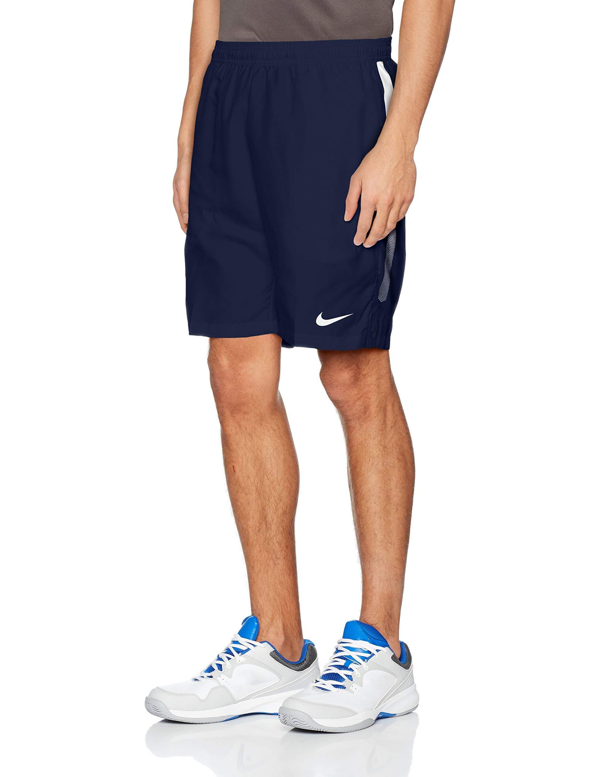 Nike Men's Court Dry 9'' Short (Midnight Navy/White/White, X-Small)