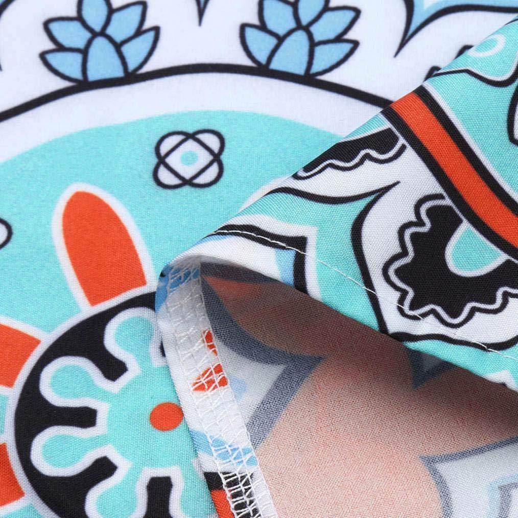 BBestseller-Vestidos Ropa Falda Niña Maxi Largo de Boho de la Cintura Alta del Bolsillo de la Manga del Remiendo de la impresión de la Raya de Las Mujeres ...