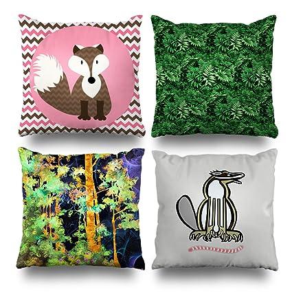 Amazon Decorative Pillows Case Cushion Cover 400 X 400 Set Of 40 Interesting Green Brown Decorative Pillows