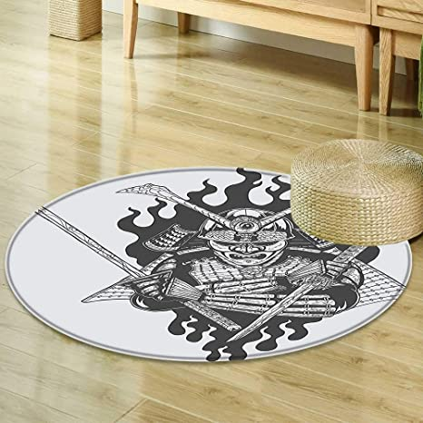 Amazon.com : Round Rug Kid Carpet Japanese Decor Collection ...