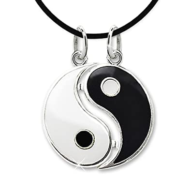 dp yang separable black jewellery sterling yin and white silver diameter necklace partner pendant clever mm