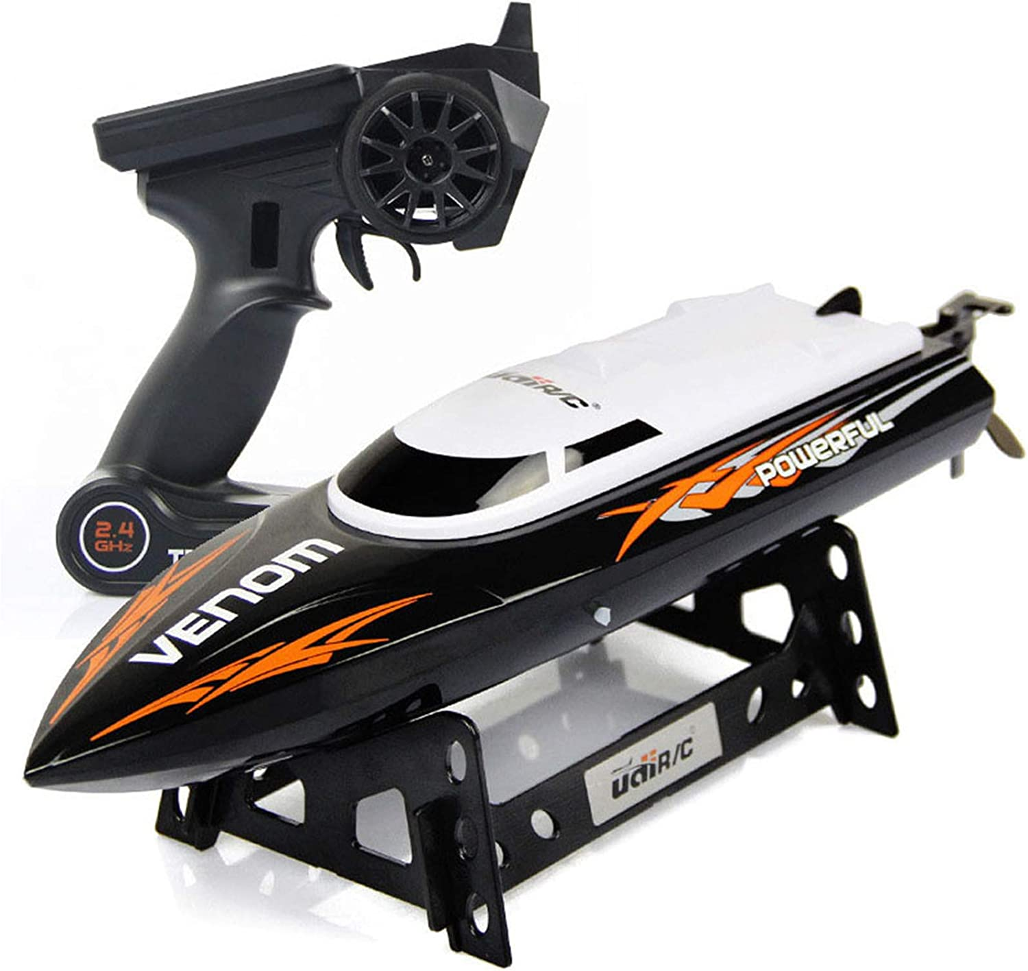 Cheerwing RC Racing Boat for Adults - High Speed Electronic Remote Control Boat for Kids (Black+White)