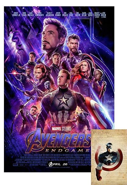 Amazon Com Avengers Endgame Movie Poster 24 X36 With Bonus 2019 X