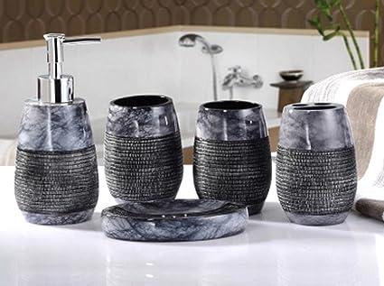 Set Da Bagno Moderno : Yiyida set da accessori per il bagno bicchieri erogatore