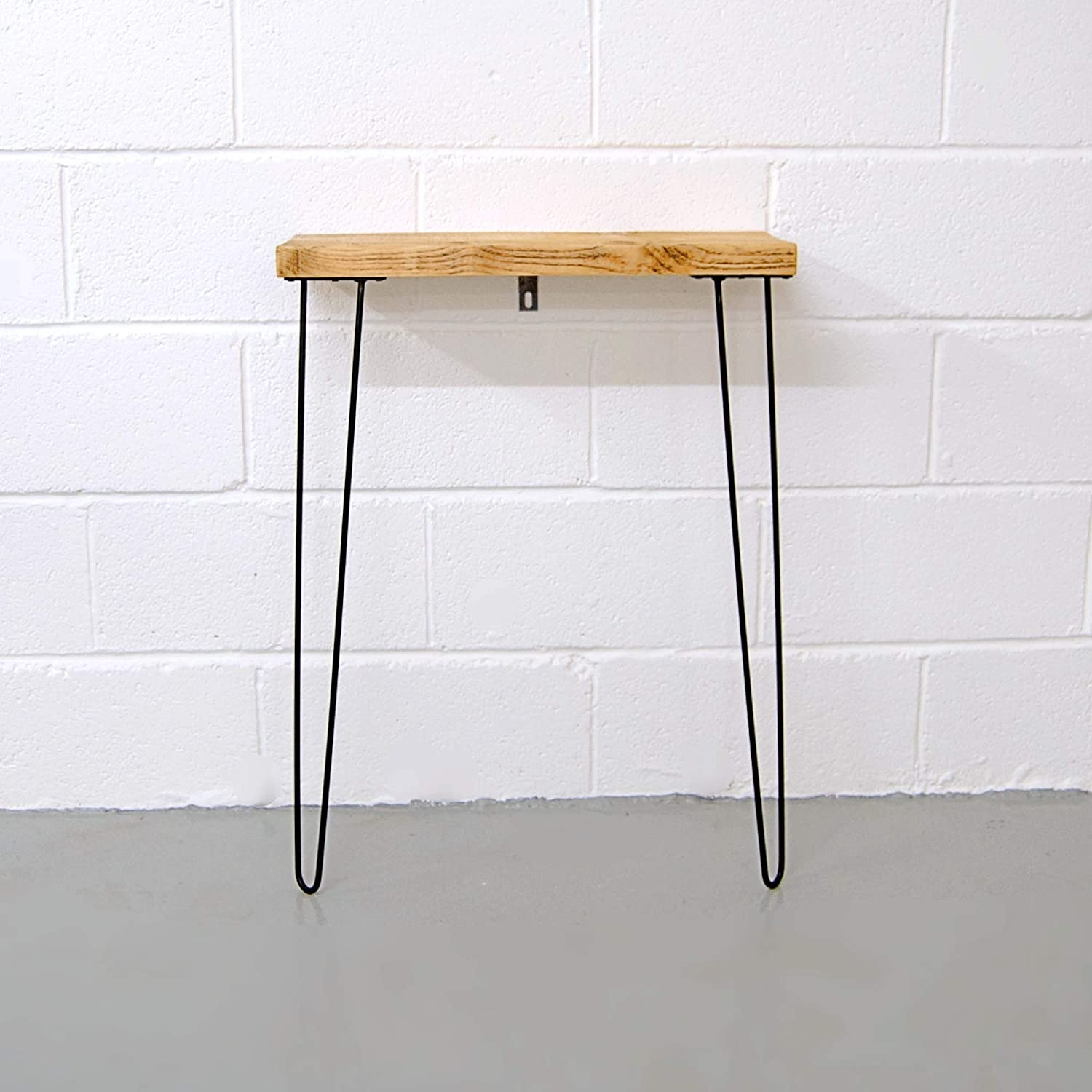 info for 6610a 04c04 Narrow Console Table With Hairpin Legs | Wooden Rustic ...