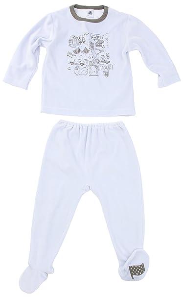 Petit Bateau - Pijama con cuello barco para niño, talla 2 Ans - talla francesa, color Azul cielo: Amazon.es: Ropa y accesorios