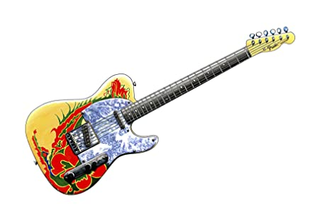 Jimmy Page's Dragon Fender Telecaster Guitar- POSTER PRINT