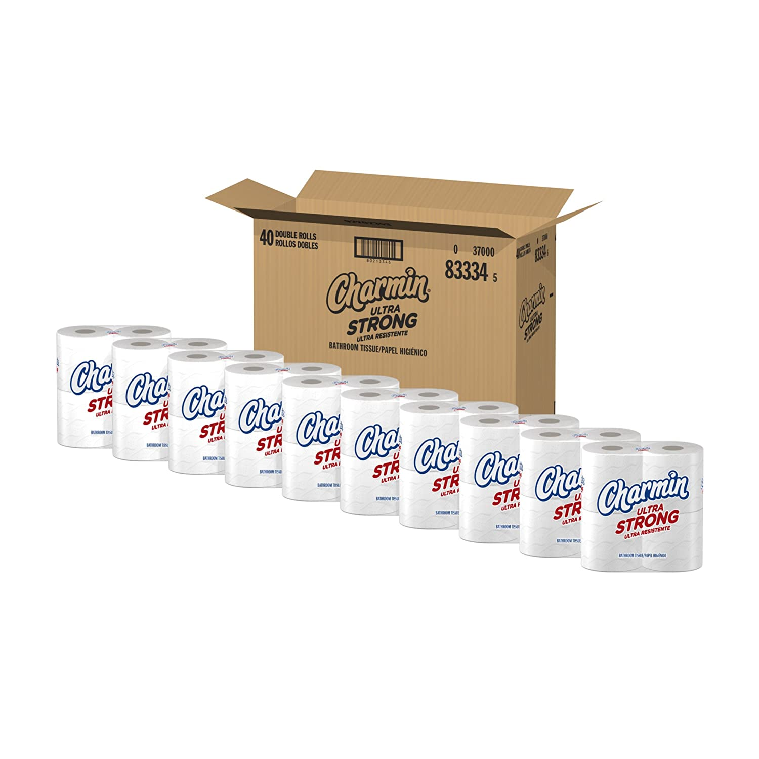 Amazon.com: Charmin Ultra Strong Toilet Paper, Double Rolls, 40 ...