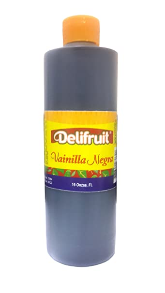 Delifruit Black Vanilla Extract From Dominican Republic 16 Oz.