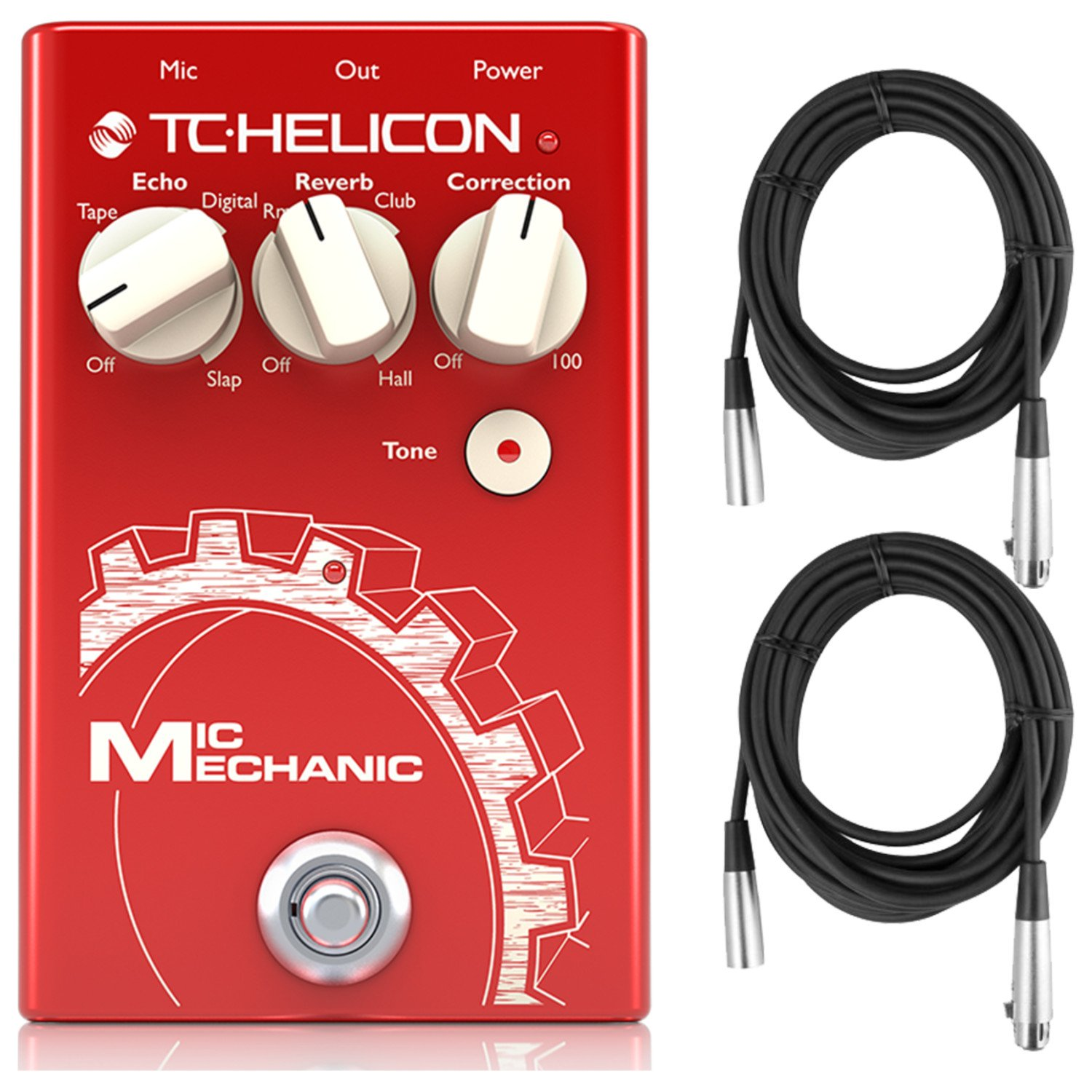 TC Helicon 996014001 Mic Mechanic 2 Vocal Effects Stomp Box w/ 2 Cables