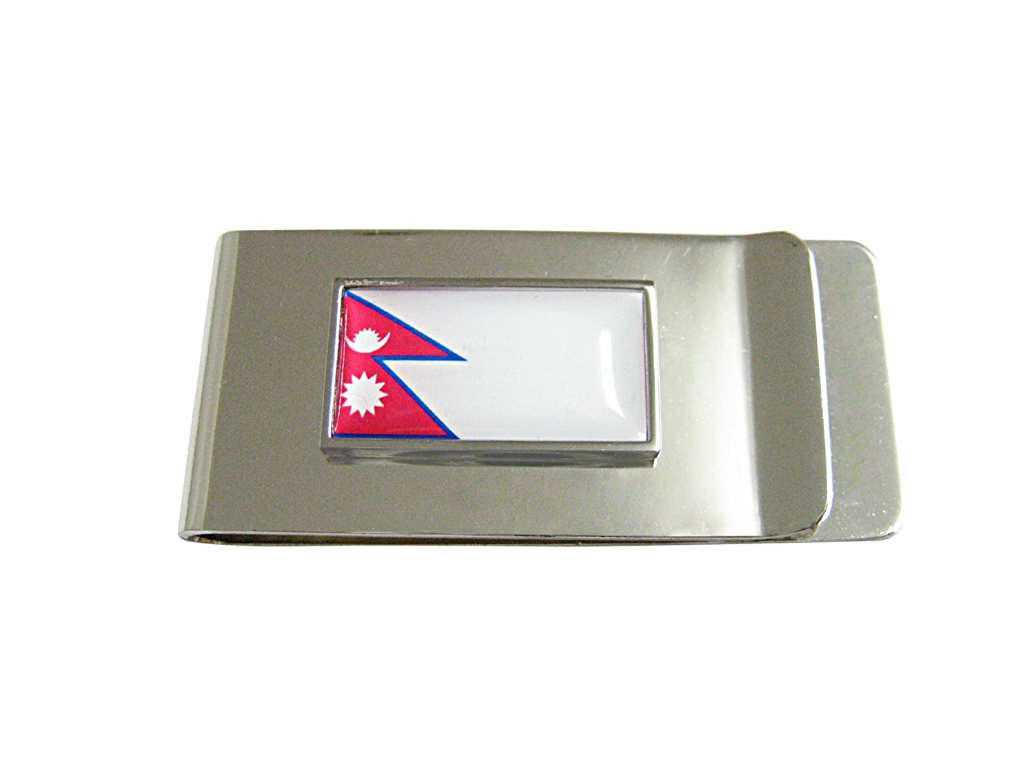 Thin Bordered Nepal Country Flag Money Clip