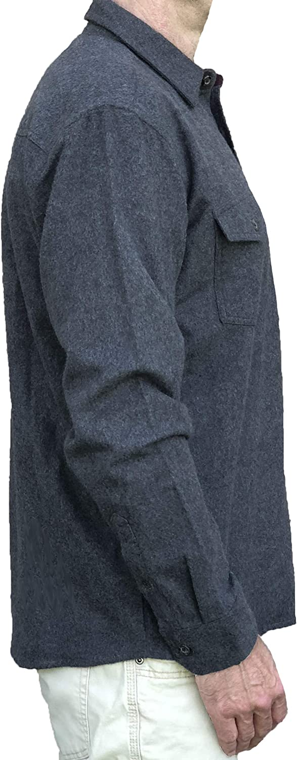 2 Chest Pockets with Flaps Inland Pacific Mens Cotton Heather Chamois Shirt