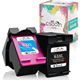 cseein Remanufactured Replacement for HP Ink 63 XL 63XL Ink Cartridge Envy 4520 4522 4512 4516 Deskjet 3630 3632 4512 4516 Of