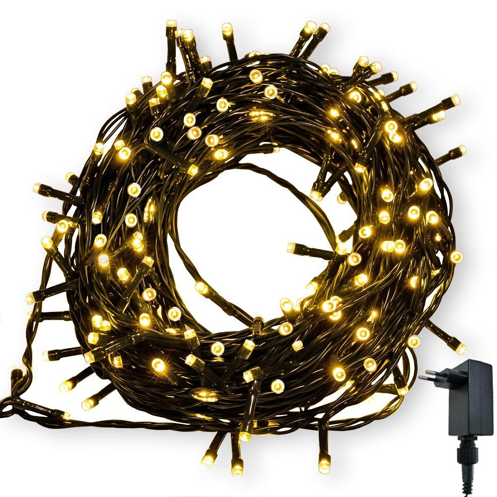 Catena Luminosa WISD Cavo Verde Scuro Stringa Luci Con 8 Modalità , Funzione Di Memoria, Decorativa Da Interni e Esterni, 102.8M 1000 LED Catena Luci Per Casa/Natale / Giardino/Feste - Colori