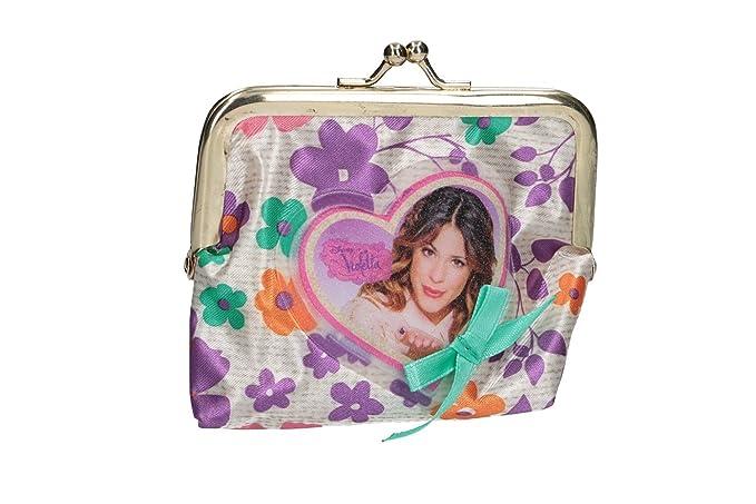 Cartera niño DISNEY VIOLETTA violeta monedero con apertura de pestillo VA2698: Amazon.es: Ropa y accesorios