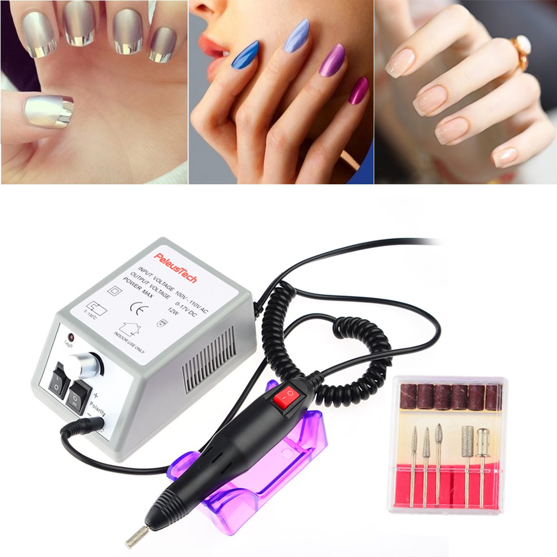 Amazon.com : Nail Drill, PeleusTech Professional Electric Nail Art ...
