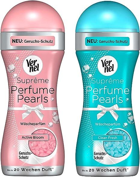 Vernel Supreme Perfume Pearls Set di profumo per la biancheria (Active Bloom & Clean Fresh), 2 x 260 g