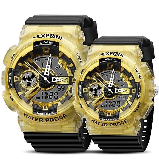 Reloj de pulsera para hombre y mujer, reloj de pulsera militar para pareja, resistente al agua, ...