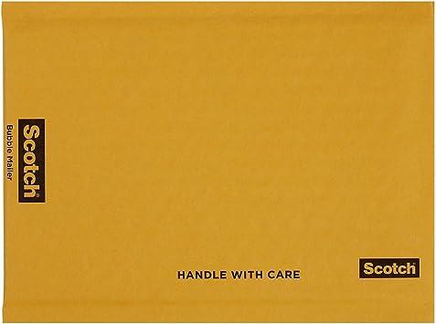 "6.5"" x 9.25"" Padded Kraft Paper Bubble Mailer Black Logo"