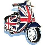 GB Union Jack Flag Covered Scooter MOD Metal Enamel Badge