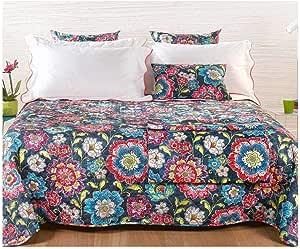 Caleffi - Colcha cubrecama Acolchada primaveral de algodón CARIBLU para Cama de Matrimonio: Amazon.es: Hogar