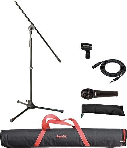 Superlux MSKA P Pack micrófono con Soporte Jirafa y Bolsa: Amazon ...