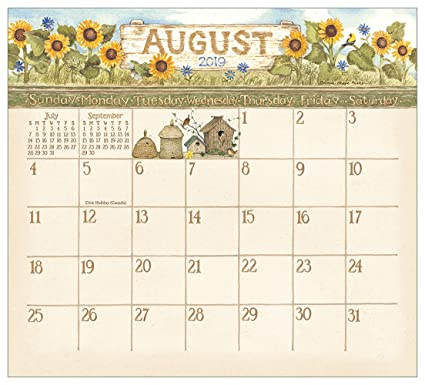 amazon com 2019 magnetic 12 month calendar pad garden path