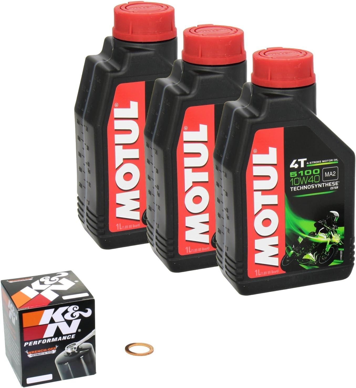 Motul 5100 10w 40 Ölwechsel Set Yamaha Xv 535 S Virago Bj 94 97 Motoröl K N Ölfilter Und Dichtring Auto