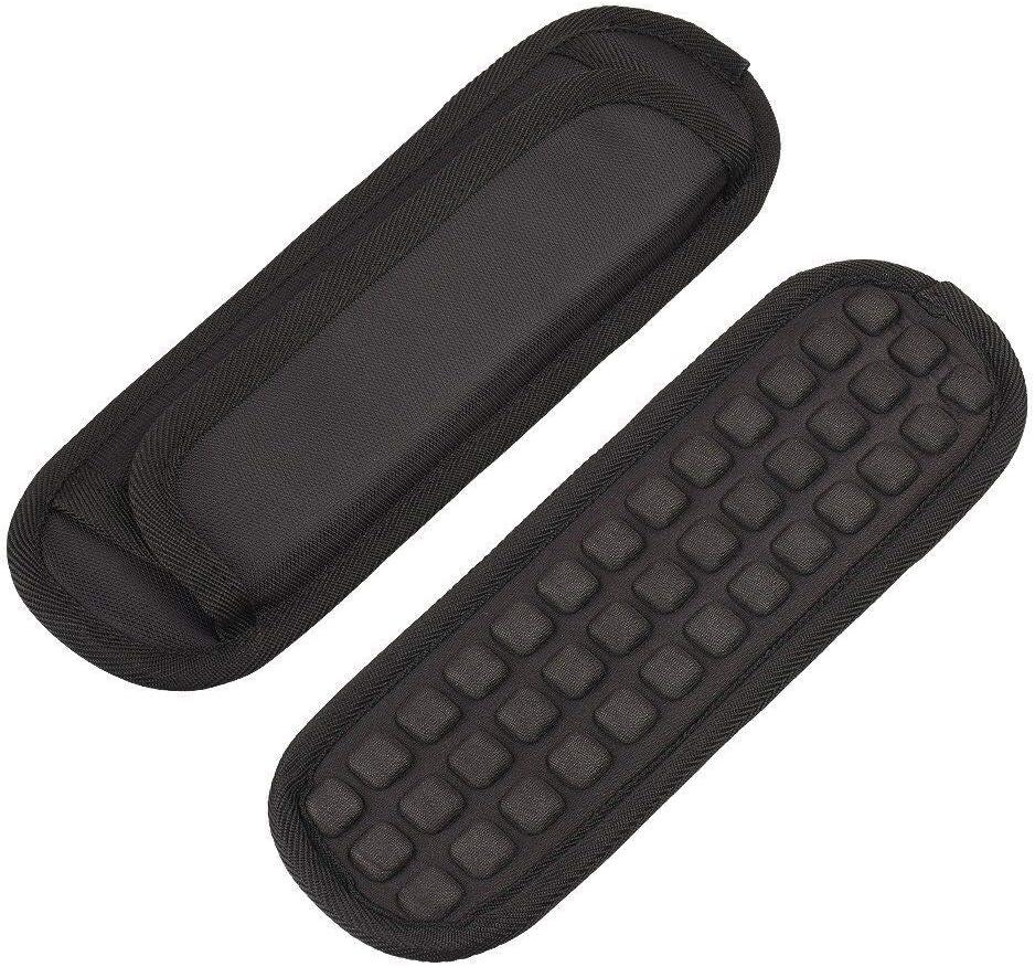 Qishare 2PCS Shoulder Pad Detachable Shoulder Strap Pad Soft Air Cushion Replacement Pad for Strap (Black, 2PCS)