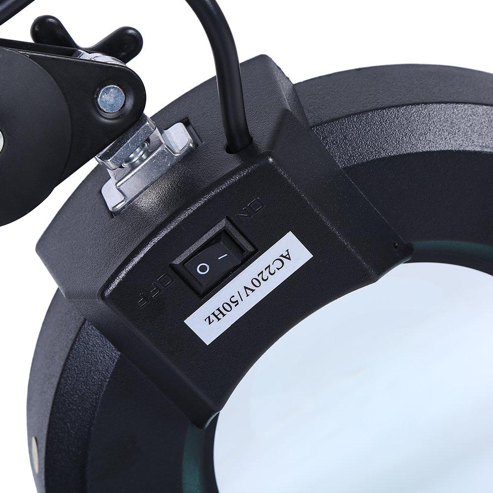 Lente D 'Lupa con LED 5 x cosméticos lupa de mesa cosméticos x a luz fría para esteista, esteticia, Laboratorio y trabajos de precisión aumento Negro 3b01e1