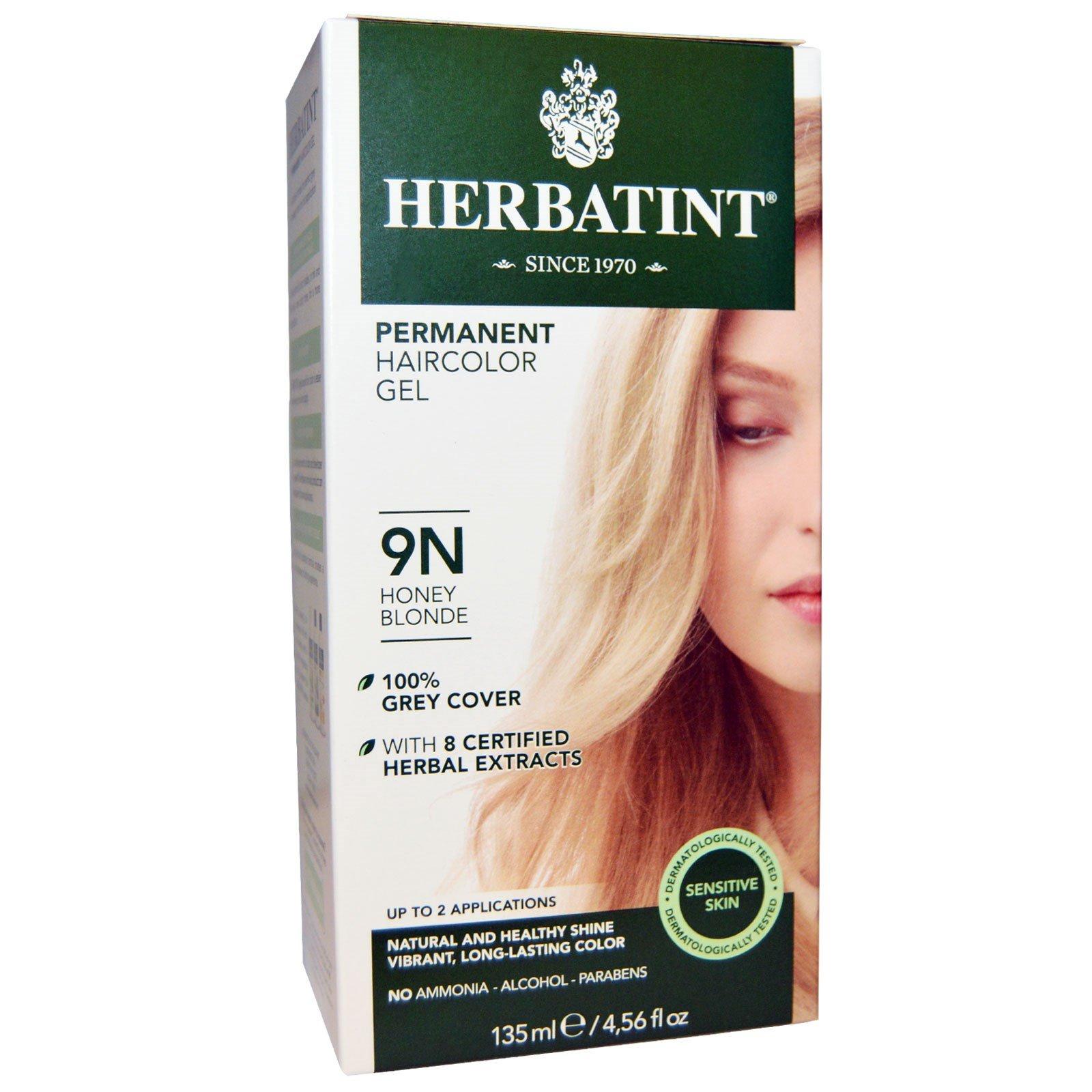 Herbatint, Permanent Haircolor Gel, 9N, Honey Blonde, 4.56 fl oz (135 ml) - 2pc