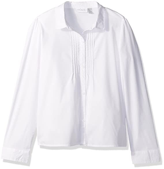 e477370a0c98 Amazon.com  The Children s Place Girls  Uniform Long Sleeve Blouse ...